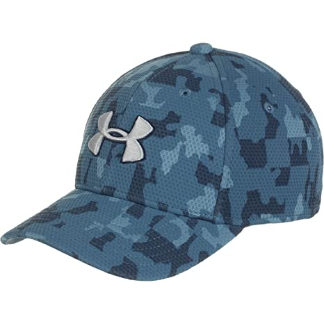 681485bad26 Under Armour Printed Blitzing Cap - Kids  Slate Blue Midnight Navy Overcast  Gray