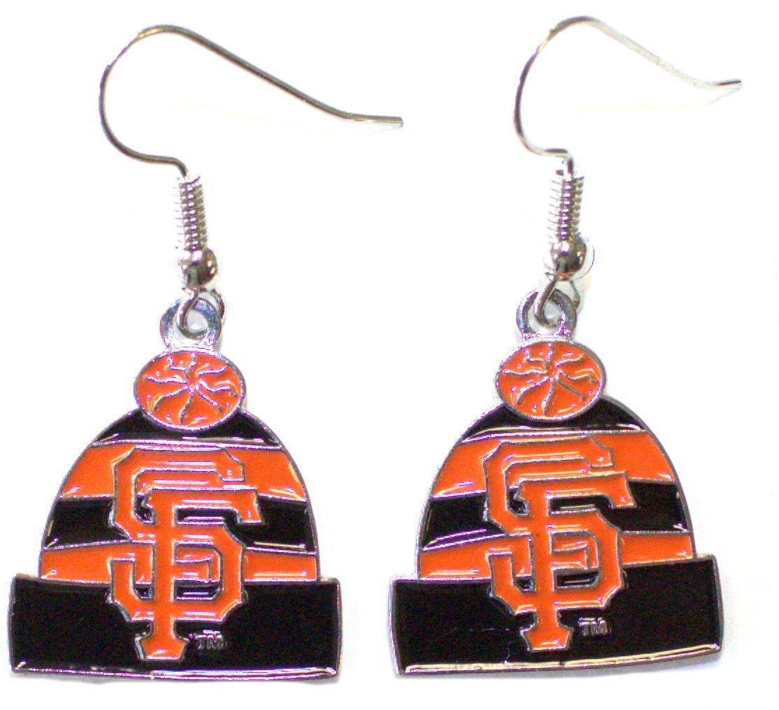 MLB Womens MLB Knit Hat Dangler Earrings