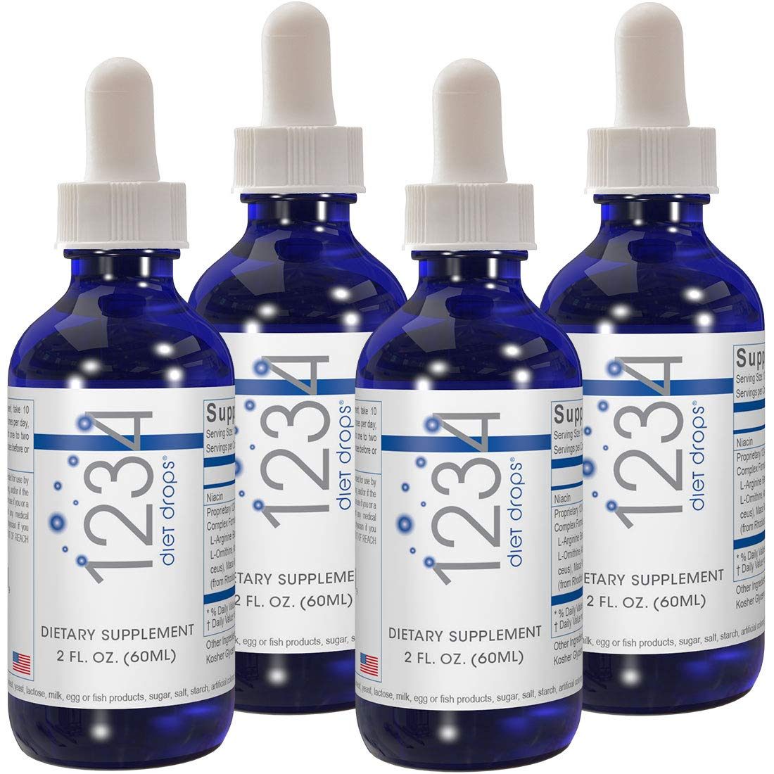 Creative Bioscience 1234 Diet Drops (4 Pack) by Creative Bioscience