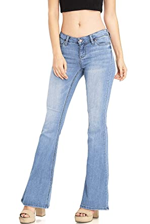 424d35842b053 Celebrity Pink Women s Juniors High Waisted Flared Bell Bottom Jeans (1