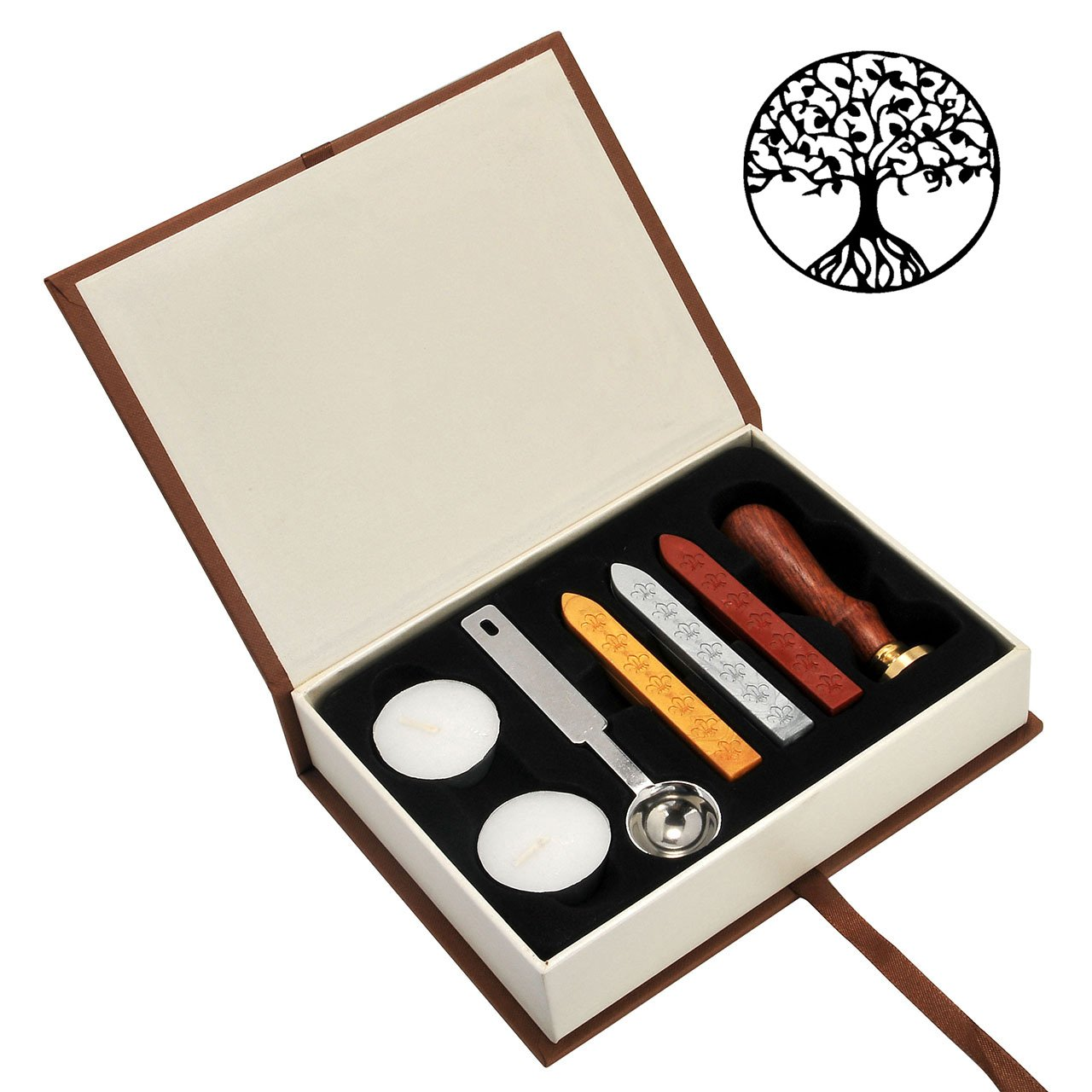 Tree of Life Wax Seal Stamp Set, Yoption Classic Vintage Seal Wax Stamp Set, Retro Seal Stamps Maker Gift Box Set (Tree of Life) by Yoption