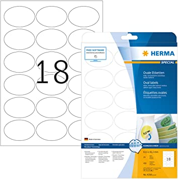 180 Etiketten 63,5 x 46,6 mm selbstklebend 10 Bögen DIN A4 Adressetiketten