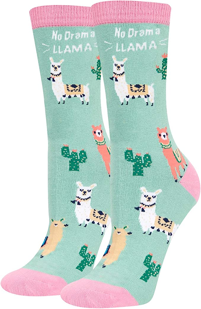 Cute Animal Socks Women Novelty Llama Goat Dog Unicorn Hen Cat Elk Turkey Cute Socks For Girls