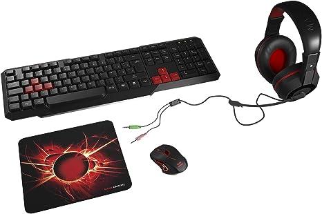 Mars Gaming MACP1, Pack de Teclado, Ratón, Auriculares y ...