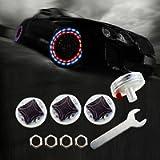 LEADTOPS Car Wheel Tire Light, 4-pack Solar Energy Motion Sensors Flashing Colorful Gas Nozzle LED Tire Schrader Valve…