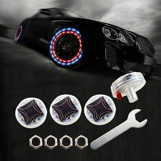 Xinhenchen 2/pcs Bike Tyre gas Nozzle Valve Core LED light Lamps for Bycicle mountain bike
