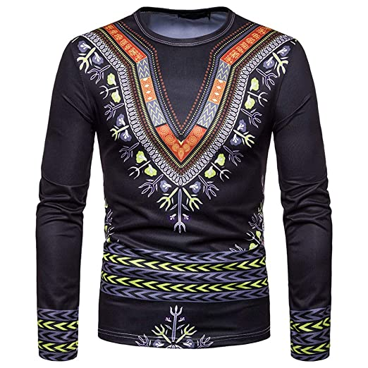 fe77d86e Amazon.com: Allywit Men Shirts, 2018 Newest Men Casual African Style ...