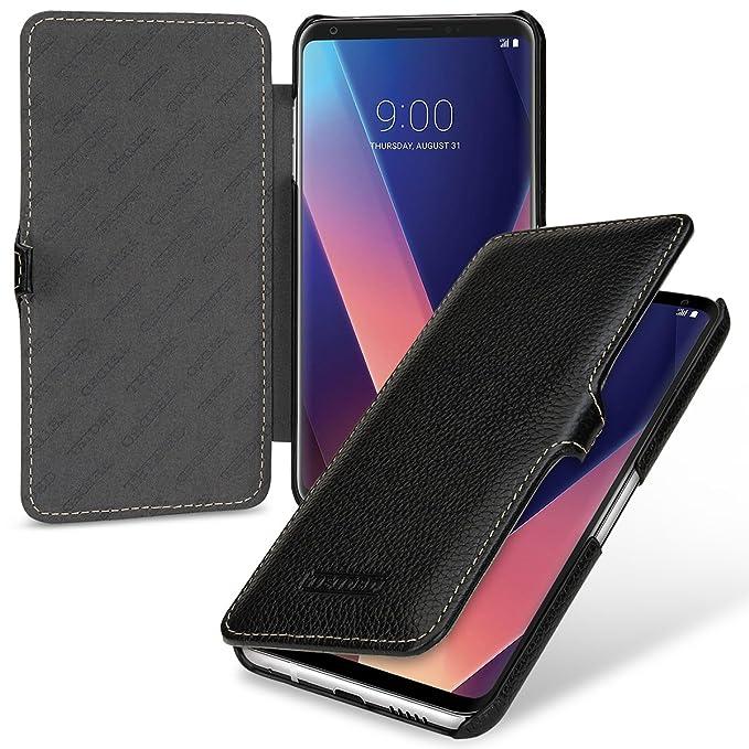 info for 63649 10b58 TETDED Premium Genuine Leather Case for LG V30 / V30+, Book Type DJ3 (Black)