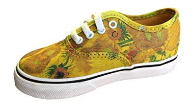b1b56b9860b Vans Toddler Gogh Sunflowers Sneakers (4.5 US Toddler M)