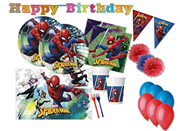 DECORATA PARTY Spiderman Accesorios de decoración de Fiesta ...