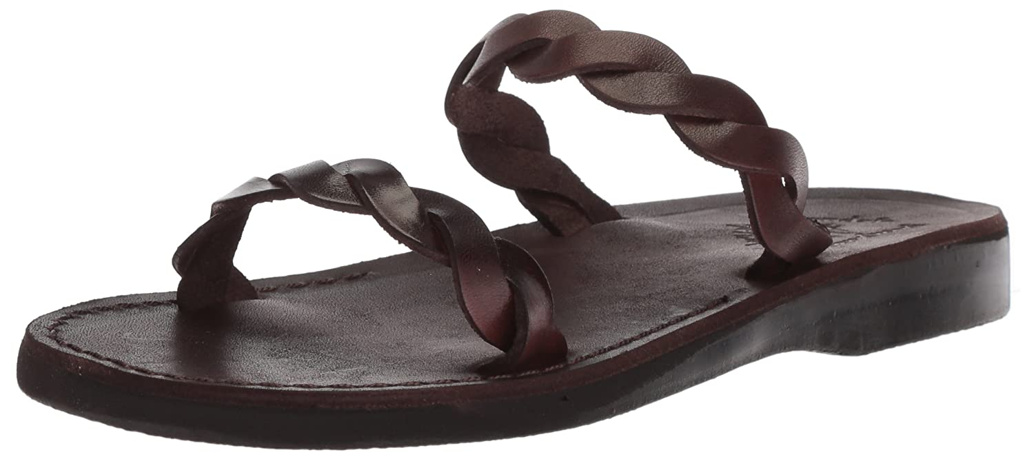 Jerusalem Sandals Women's Joanna Slide Sandal B075KZ5VB2 40 Medium EU (9-9.5 US)|Brown