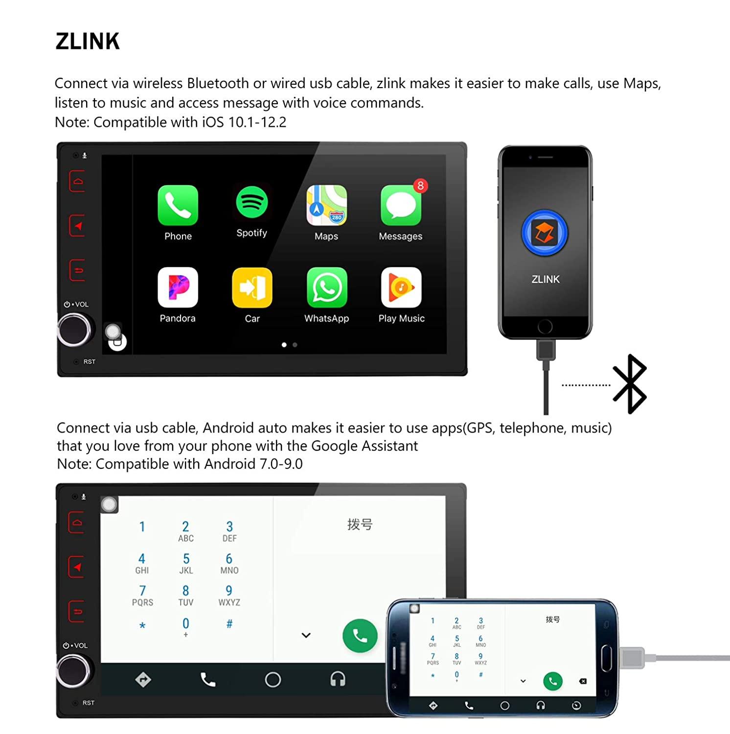 Amazon.com: JOYING Android Car Stereo 4GB + 64GB Android 8.1 ...