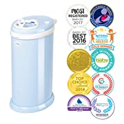 Ubbi Money Saving, No Special Bag Required, Steel Odor Locking Diaper Pail, Light Blue