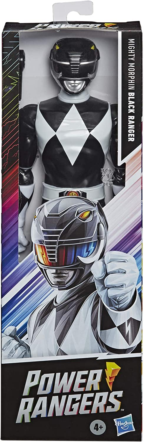 Power Rangers Mighty Morphin Black Ranger 12-Inch Action Figure New 2020 Toy