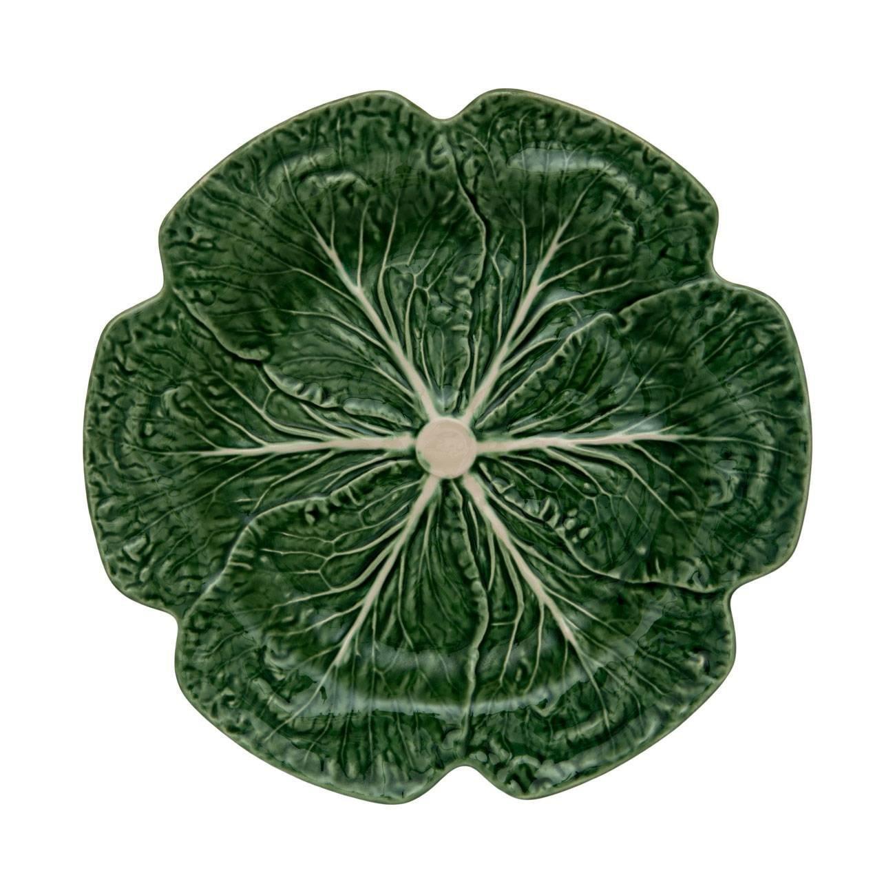 Bordallo Pinheiro Cabbage Green Charger Plate, Set of 2