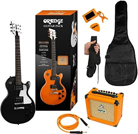 ORANGE BLACK GUITAR PACK DE GUITARRA ELECTRICA: Amazon.es ...