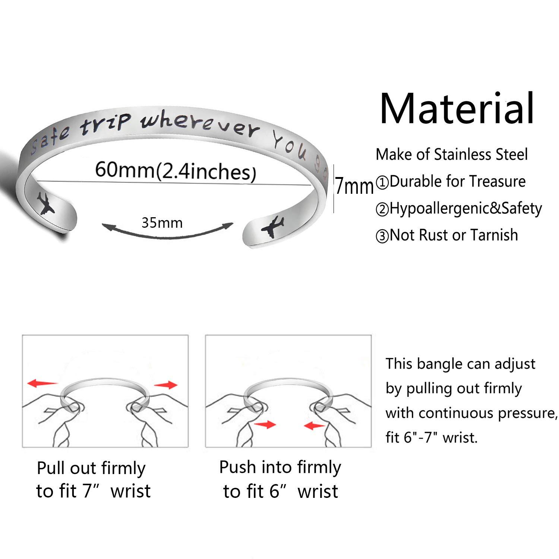 Ensianth Bracelet manchette avec inscription