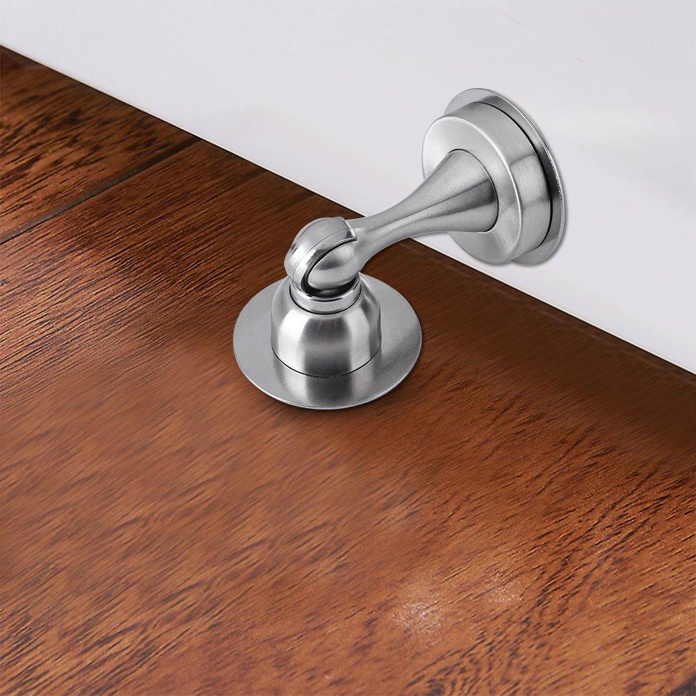 Arr/êt de porte en acier inoxydable Butoir de Porte Mural ou Terrain Coller ou /visser Noir