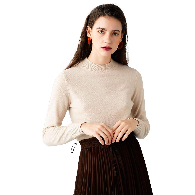 Beige Cozymetters.Co Women's 100% Cashmere Cozy Turtle Neck Sweater
