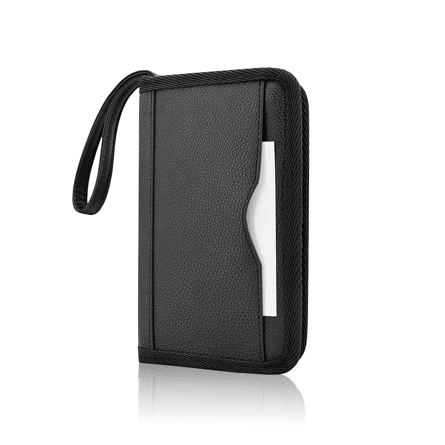 MIFAVOR Leather Bags for New Nintendo 3DS XL Carrying Case Protective PU for New 3DS XL (Black)