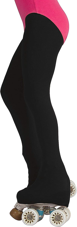 CALZITALY Collants Fille de Patinage Artistique et Roller Couvre Patins Noir 70 DEN Fabriqu/é en Italie Naturel Caramel 6-12 Ans