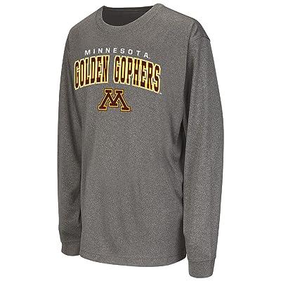 Youth NCAA Minnesota Golden Gophers Long Sleeve Tee Shirt (Heather Charcoal)