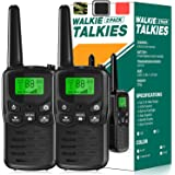 EKOOS Walkie Talkie Kids Toy Long Range for 3-12 Year Old Kids, Family Radio Service for Adults Boys & Girls, Walkie Talkies