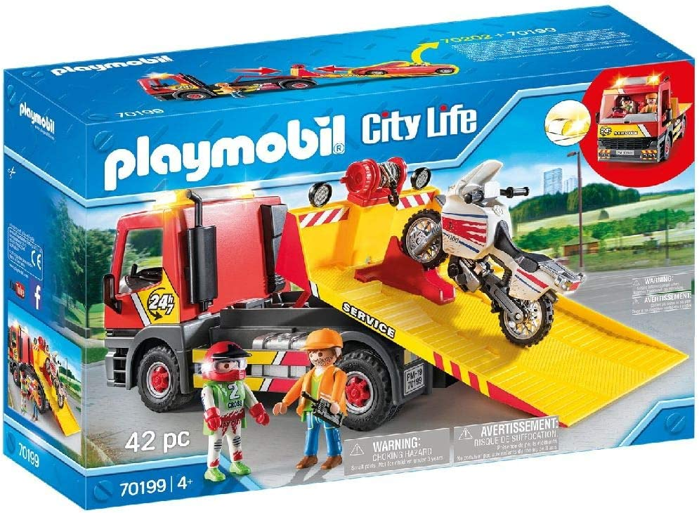 PLAYMOBIL City Life Grúa Remolque, A partir de 4 años (70199)