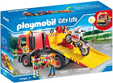 PLAYMOBIL City Life Grúa Remolque, A partir de 4 años (70199 ...