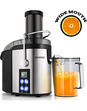 Juicer, GEARGO Juice Extractor with 75mm Wide Mouth, Newest LED Display and 4-