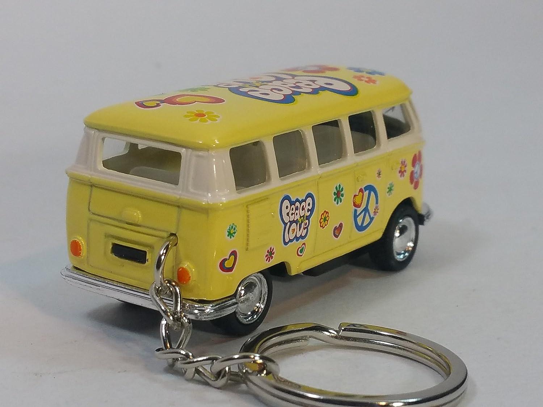 Amazon.com: Kinsmart amarillo Classic 1962 Love & Peace VW ...