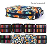 qianshan 100 120 132 144 150 colored Pencils universal Pencil Bag organizer slots holder pen case School Stationery PencilCase Drawing Painting Storage hard shell Pouch pencil box (no pencils) travel