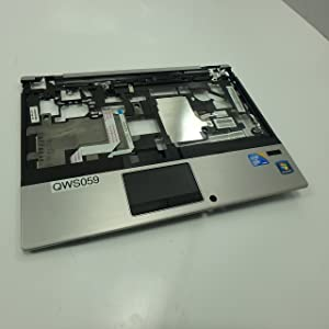 HP 598801-001 Upper CPU cover (chassis top) with fingerprint reader - Includes fingerprint reader board with cable, TouchPad board with cable, TouchPad button board with cable, and TouchPad bracket