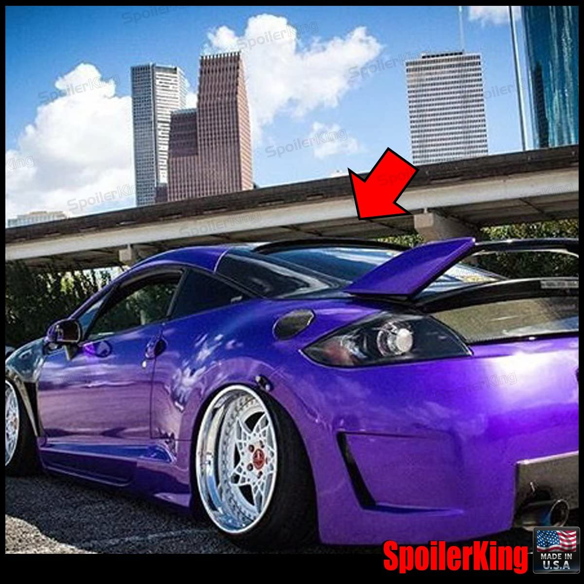 Stock 889 HRW Rear Roof Spoiler Wing For 2006~12 Mitsubishi Eclipse 4G Coupe