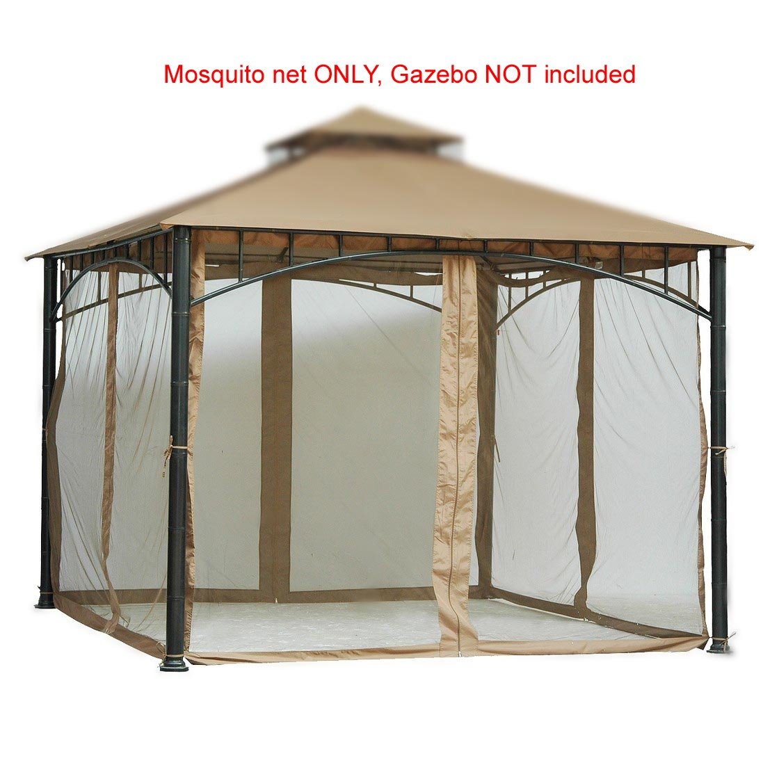 Replacement Mosquito Netting for Gazebo Size 10ft x 10 ft (Gazebo Mosquito Net Only) by PierSurplus (Image #5)