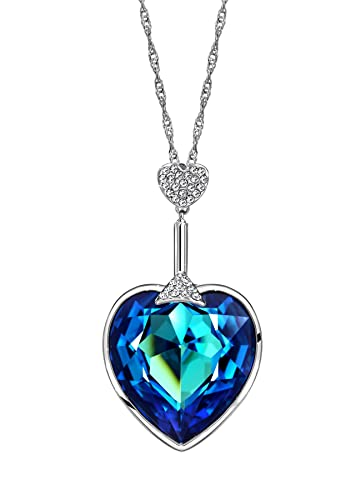 Buy Ananth Jewels Swarovski Blue Austria Crystal   Rhinestone Heart Pendant  Necklace for Women Online at Low Prices in India   Amazon Jewellery Store  ... 44b6e2a9f7