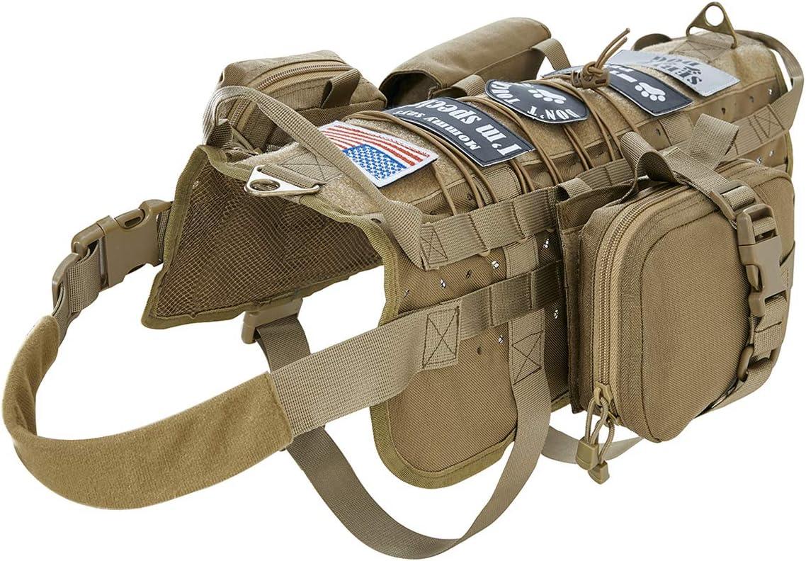 VIVOI Tactical Military Molle Dog Vest