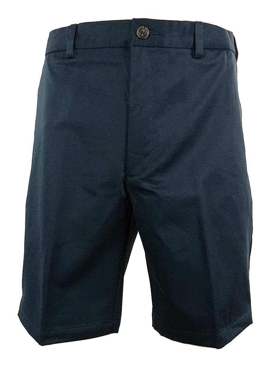 Roundtree & Yorke Big & Tall Men's Easy Care Flat Front Shorts Navy)