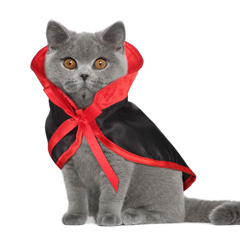 Boao 4 Piezas Disfraz de Gato de Halloween con alas de murci/élago y Campanas de Calabaza para Disfraz de Halloween para Mascotas