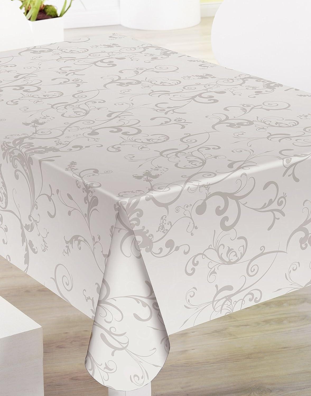 Mantel de Hule PVC estampado Ref. Roma Taupe, medida 140x100: Amazon.es: Hogar