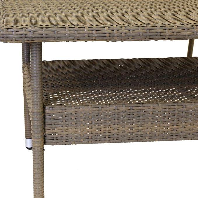 Conjunto de Muebles para jardín marrón de plástico Garden ...