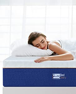 BedStory Memory Foam Mattress Queen, 12 Inch Lavender Memory Foam Mattress in a Box, Premium Bed Mattress with Breathable Soft Cover, CertiPUR-US Foam for Supportive, Pressure Relief, 10 Years Support