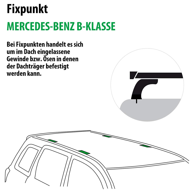 118785-05396-24 Rameder Komplettsatz Dachtr/äger Tema f/ür Mercedes-Benz B-KLASSE