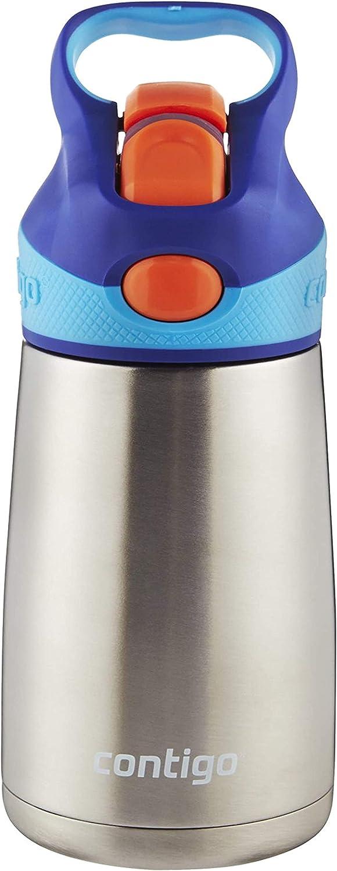 Sapphire 14 oz. Contigo AUTOSPOUT Straw Striker Kids Water Bottle 14 oz