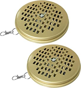 Ruiwaer 2PCS Portable Incense Holder Metal Rack with Cover Incense Tray Burner for Indoor & Outdoor Patio, Lawn & Garden for Camping, Hiking