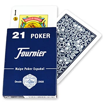 Fournier Cubierta de 43 español Poker 21 Playing Cards Tuck ...