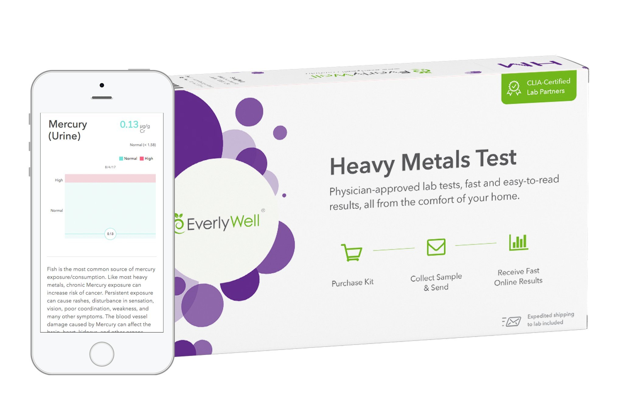 EverlyWell - Heavy Metals Test - Check Your Exposure to Heavy Metals (Not Available in NY, NJ, MD or RI)