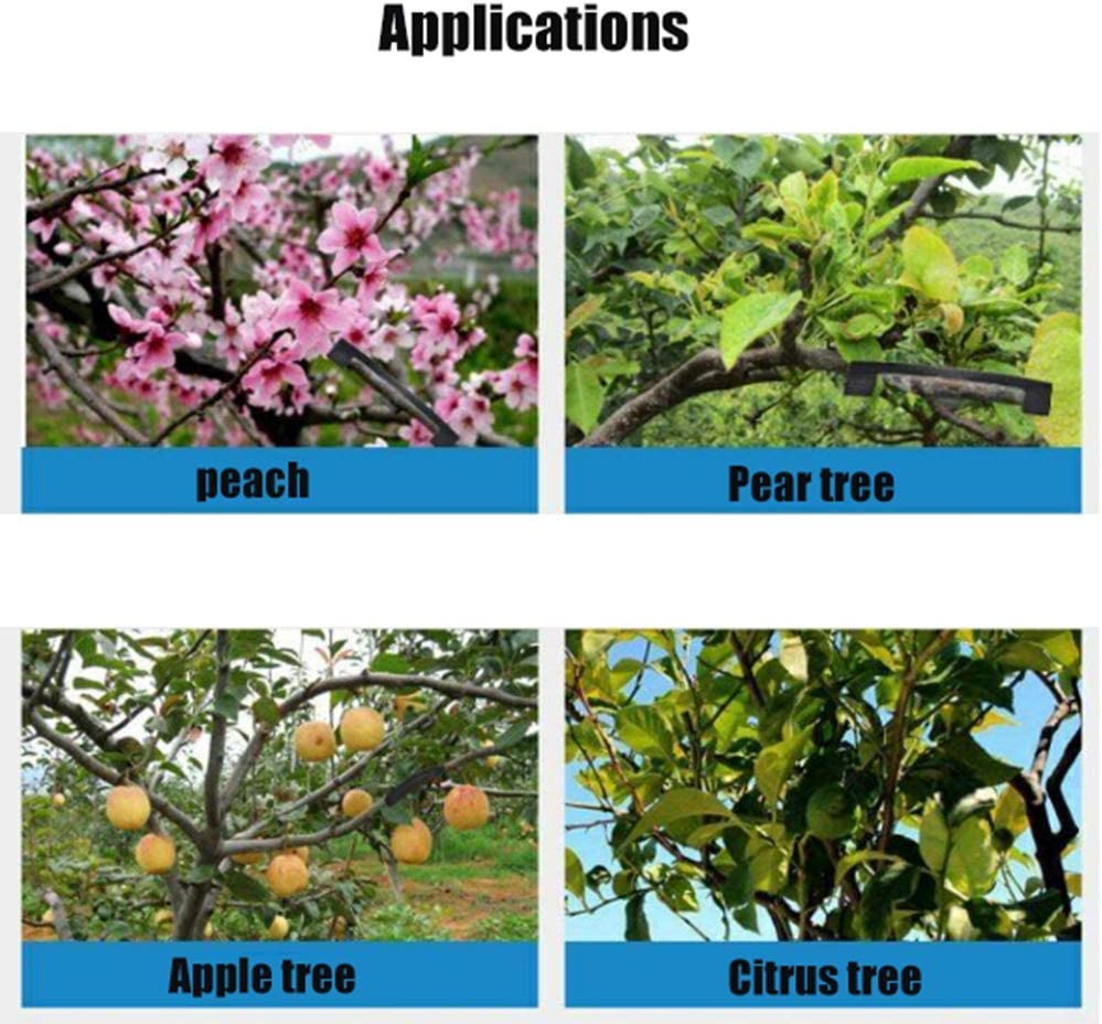 Branch Support Clip Fruit Tree Puller,-for Supporting or Straightening Plant Stems Stems and Vines XBSD Plant Stand Black Twisted Branch Clip