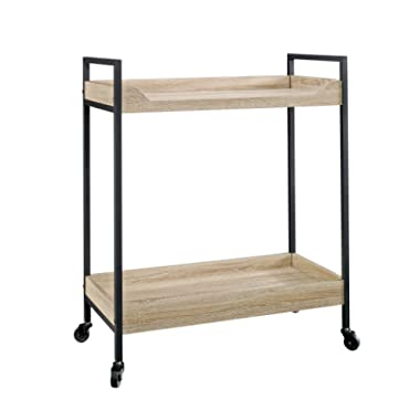 Sauder 420043 Storage Cart, L: 32.76  x W: 17.28  x H: 36.02 , Craftsman Oak Finish