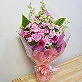 [エルフルール]ピンクの季節花を使用した ボリューム花束 結婚祝い 誕生日 記念日 プレゼント フラワーギフト 母の日
